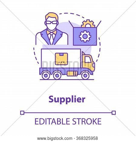 Supplier Concept Icon. Cargo Transportation Idea Thin Line Illustration. Parcel Shipping. Delivery S