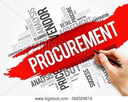 Procurement Word Cloud Collage, Business Concept Background