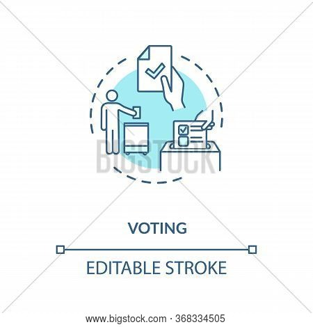 Voting Concept Icon. Presidential Elections. Government Choosing. Poll Filling. Democracy Idea Thin