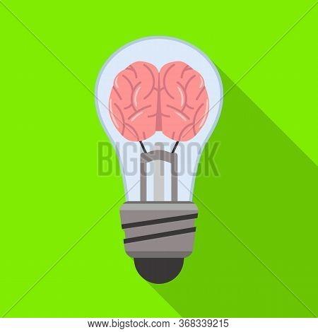 Vector Design Of Light And Brain Icon. Web Element Of Light And Idea Vector Icon For Stock.