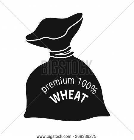 Vector Illustration Of Flour And Bag Sign. Set Of Flour And Sack Vector Icon For Stock.