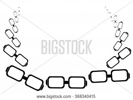 Large Frame Eyeglasses Vector Image With Place For Text.