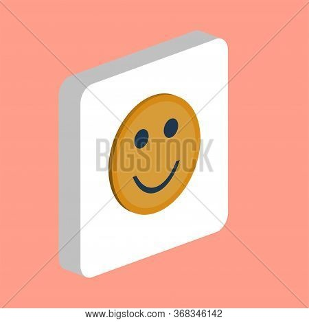 Happy Face, Smile Simple Vector Icon. Illustration Symbol Design Template For Web Mobile Ui Element.
