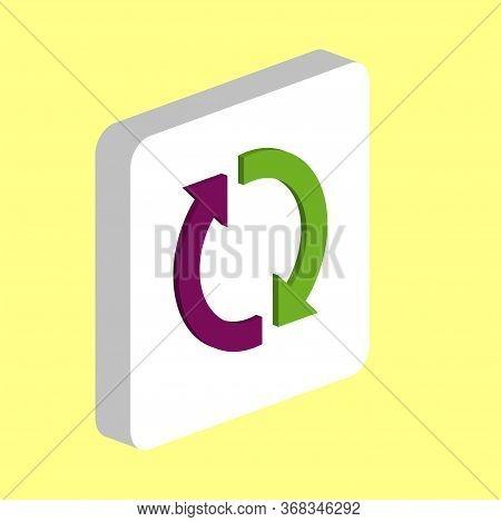 Rotation Arrows Simple Vector Icon. Illustration Symbol Design Template For Web Mobile Ui Element. P
