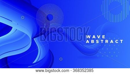 Abstract 3d Background. Blue Fluid Concept. Vibrant Wallpaper. Color Modern Poster. Geometric Moveme