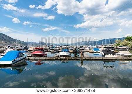 Penticton, British Columbia/canada - June 13, 2019: Boats Moored At The Penticton Yacht Club And Mar