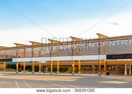 Penticton, British Columbia/canada - June 21, 2019: The Penticton Trade And Convention Centre Is An