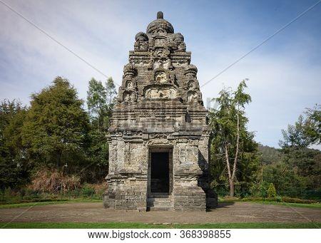 Candi Bima Hindu Temple, Near Arjuna Complex In Dieng Plateau, Central Java, Indonesia.