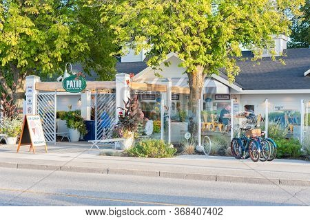 Penticton, British Columbia/canada - August 29, 2019: Street View Of Patio Burger And Ice Cream Co.