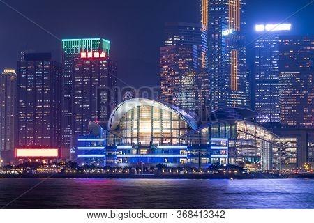 Hongkong Cityscape At Night , Hong Kong City.