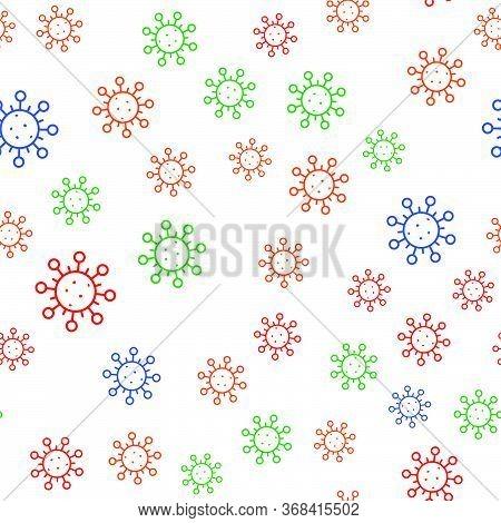 Corona Virus, Infection, Microbe, Virus, Atom, Bacillus, Infection, Coronavirus, Vector Seamless Pat