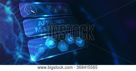 Affiliate Marketing. Business, Technology, Internet And Network Concept. 3d Illustration
