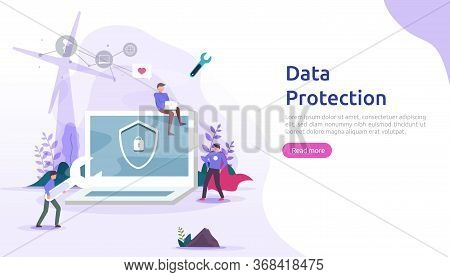 Safety And Confidential Data Protection. Vpn Internet Network Security. Traffic Encryption Personal