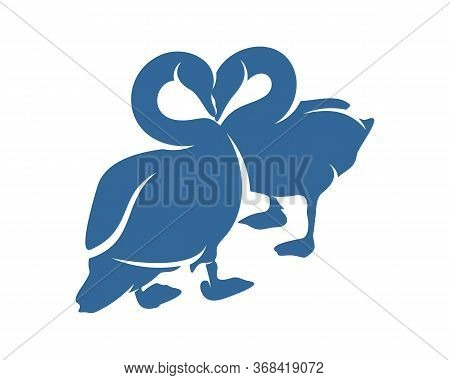 Swan Logo Vector Design Template, Silhouette Swan Logo, Illustration