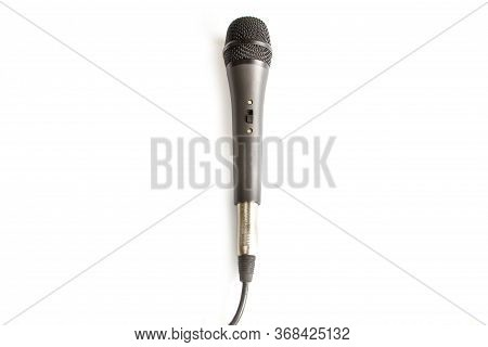 Mike Microphone Isolated On A White Background.
