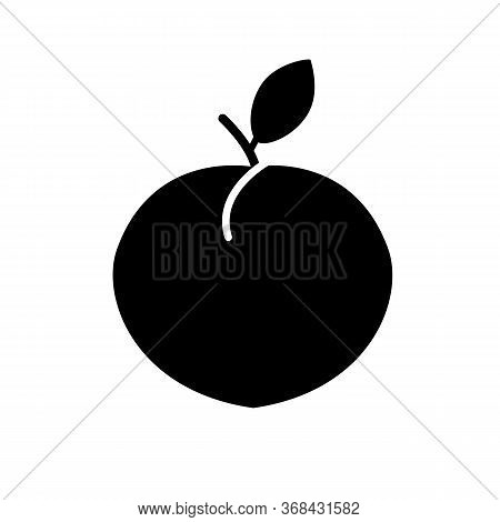 Peach Icon On White Background. Flat Style. Peach Fruit Icon For Your Web Site Design, Logo, App, Ui