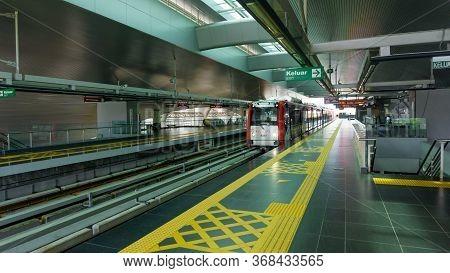 Kuala Lumpur, Malaysia - April 20, 2020: The Mass Rapid Transit Is A Rapid Transit System Forming Th