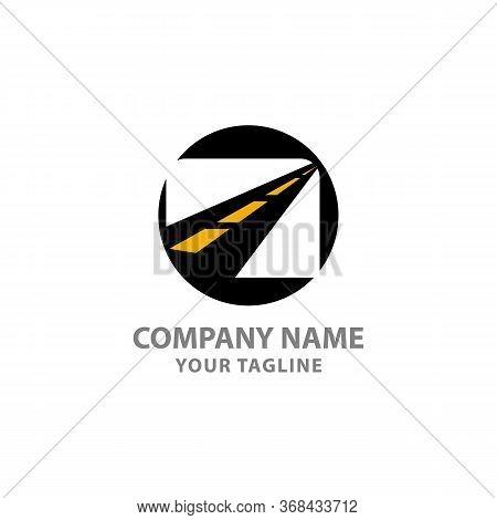 Asphalt Logo Vector,paving Logo Design Template. Construction Vector Icon Idea With Highway In Negat