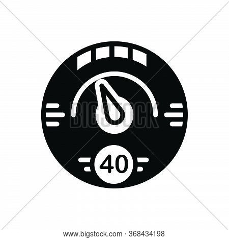 Black Solid Icon For Digital-gauge Digital Gauge Speedometer Meter Tachometer Indicator
