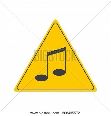 No Sound Sign. No Music, Prohibition Sign, Vector Illustration. No Sound Icon, Prohibited And Silenc