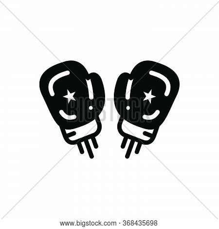 Black Solid Icon For Boxing Gloves Boxing Fight Gloves Protection Punch