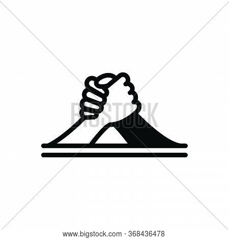 Black Solid Icon For Arm-wrestling Arm Challenge Competition Fighting Struggle Wrestling