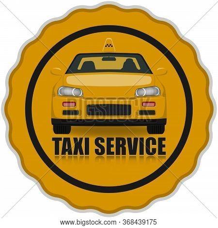 Orange Taxi Service Icon. Taxi Icon.illustration Taxi