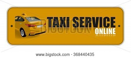 Yellow Taxi Service Online Icon.taxi Illustration.taxi Icon