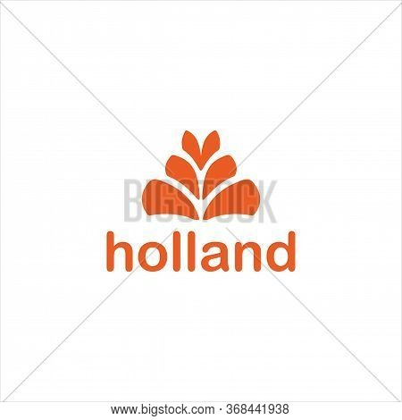 Holland Logo Vector And Barley,agriculture, Templates, Simple