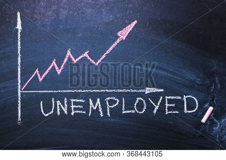 Word Unemployed And Unemployment Schedule. Concept Of Hiring, New Job, Vacancy