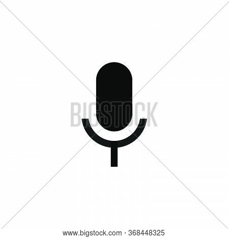 Microphone Icon.microphone Symbol For Web And Mobile Platforms.microphone Icon Isolated On White Bac