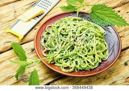 Pasta With Herbal Sauce.