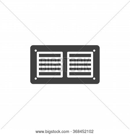 Exhaust Air Ventilation Vector Icon. Filled Flat Sign For Mobile Concept And Web Design. Fan Exhaust