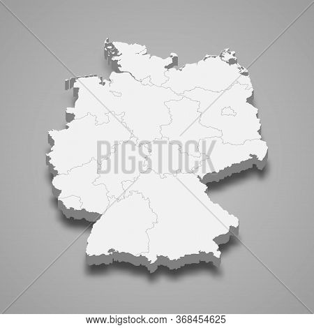 3d Map With Borders Template For Your Design