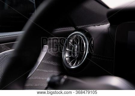 Car Interior . Modern Luxury Car Air Vents And Car Air Condition.