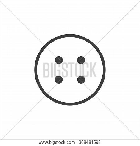 Button Icon Vector Black Stud Sign. Eps10