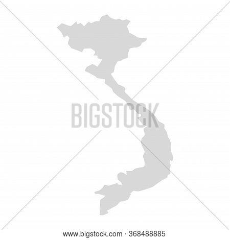 Vietnam Vector Map Card Region. Vietnam Cambodia Area Concept Map Isolated Province