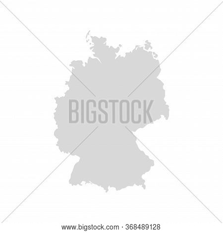 Germany Vector Map Icon. Europe Germany Country Map Background Shape