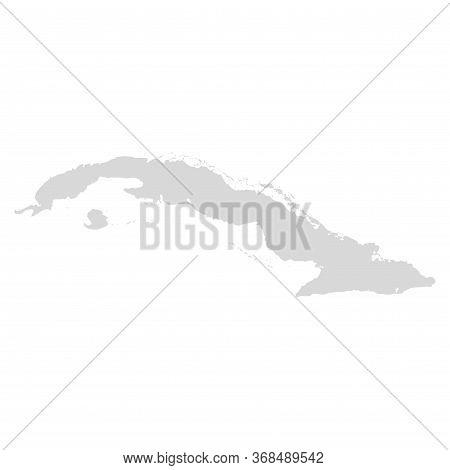 Cuba Vector Map. Bahamas Caribbean Area Cuba Island Havana City Map