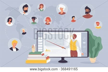E-learning, Education Training. Social Network. Educational Platform. People Connection. Business Sp