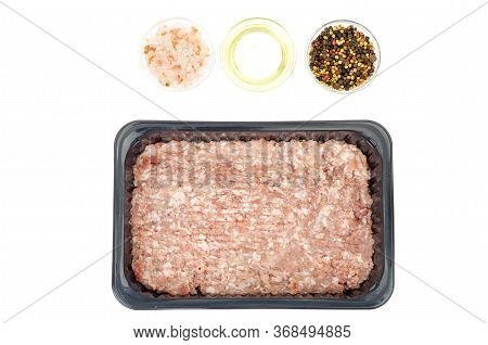 Fresh Minced Meat, Minced Pork. Photo In Studio