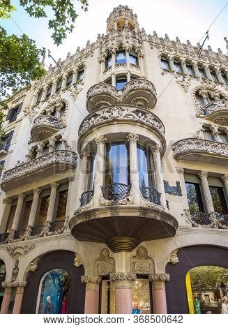 Casa Lleo Morera In Barcelona, Spain. Was Built In 1902-1906 By Catalan Architect Domenech I Montane