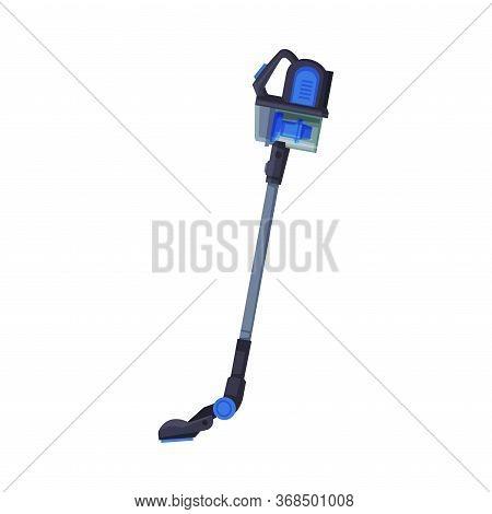 Cordless Handheld Stick Vacuum Cleaner, Household Appliance Flat Style Vector Illustration On White