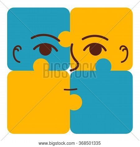 Autism Awareness Day. Illustration On White Background. Puzzles Symbol Of Autism. Vector Illustratio
