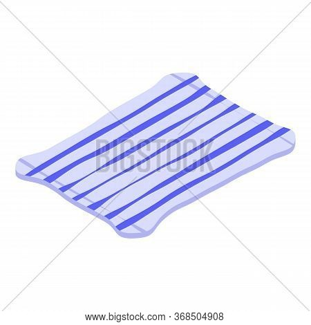 Striped Blanket Icon. Isometric Of Striped Blanket Vector Icon For Web Design Isolated On White Back