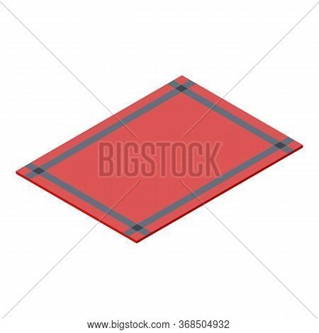 Red Blanket Icon. Isometric Of Red Blanket Vector Icon For Web Design Isolated On White Background