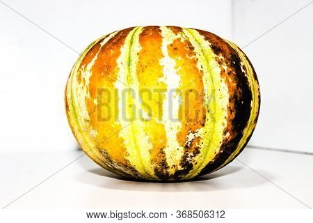 A Picture Of Muskmelon With White Background