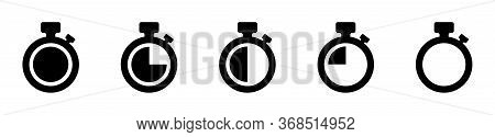 Timer Vector Icons On White Background. Set Of Timer. Countdown Timer Vector Icons. Eps10