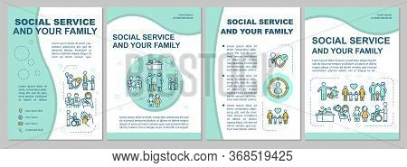 Support For Family Brochure Template. Social Welfare. Flyer, Booklet, Leaflet Print, Cover Design Wi
