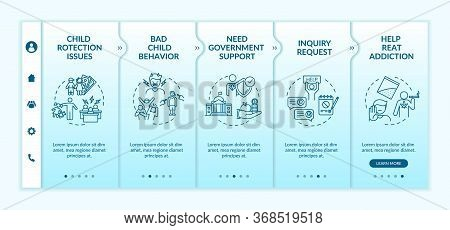 Support For Family Onboarding Vector Template. Bad Child Behavior. Inquiry Request. Community Help.